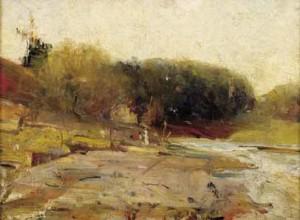 charles_conde_200097_on_the_river_yarra_heidelberg_victoria_australian_impressionism_art_painting