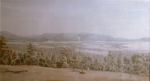 eugene_von_guerard_210525_lilydale_from_the_christmas_hills_with_dandenongs_in_the_distance_watercolour_painting_australian_colonial_art_landscape