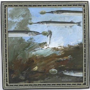 michael_mcwilliams_250132_garfish_with_olives_australian_art_contemporary_australiana_painted_furniture_antique