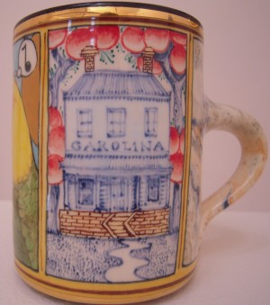 Stephen Bowers Caroline Parakeet Mug (side)