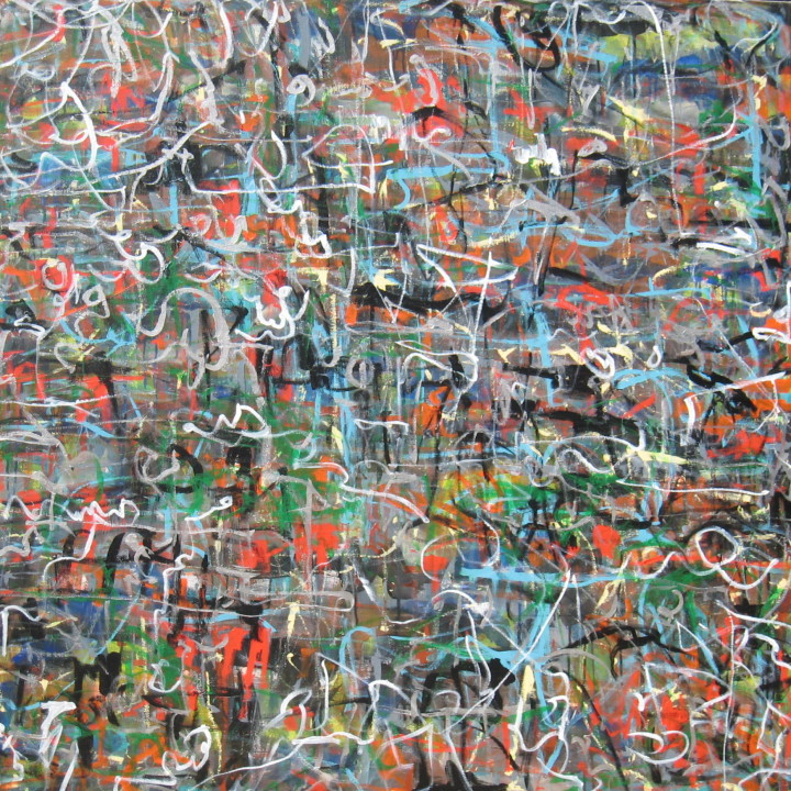 After Hosier Lane#4 acrylic on canvas 120x120cm 2012 by Garry Hyde