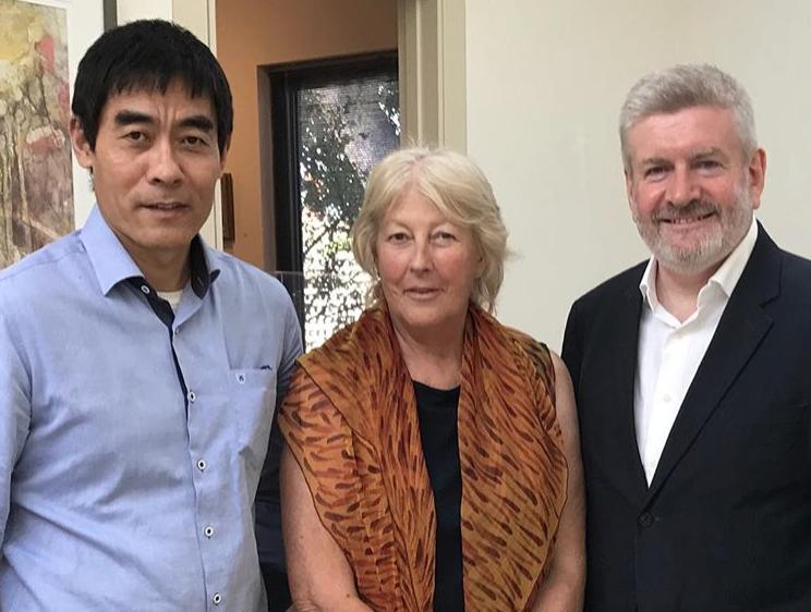 Zhou Xiaoping, Lauraine Diggins & Mitch Fifield