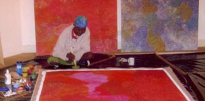 Angelina Ngal painting at LDFA 2009