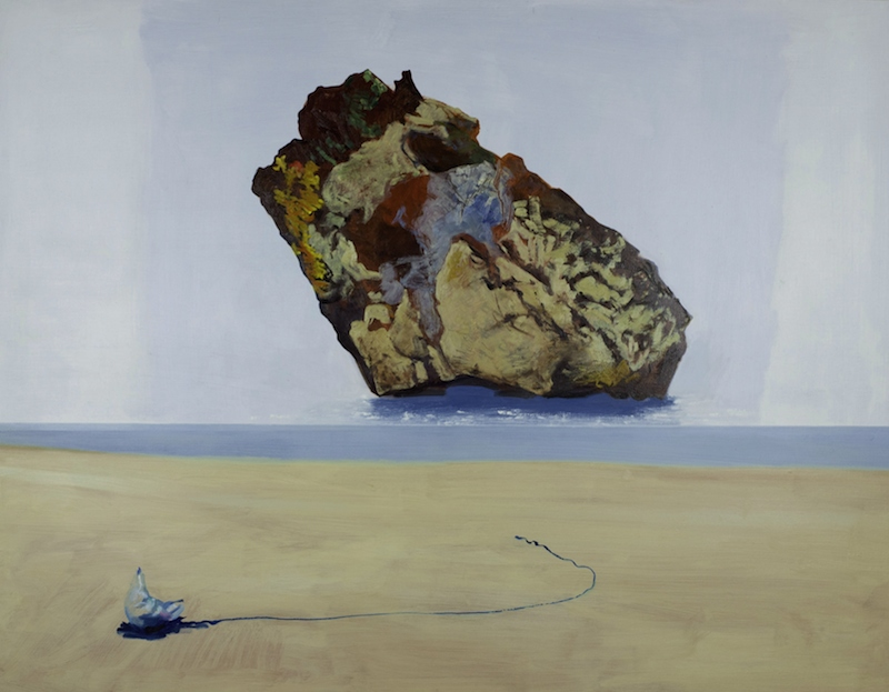 Andrew Sayers On the Shore, Rock and Bluebottle, 2015