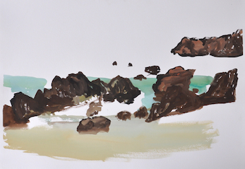 Andrew Sayers Receding Tide and Rocks, Corunna Beach