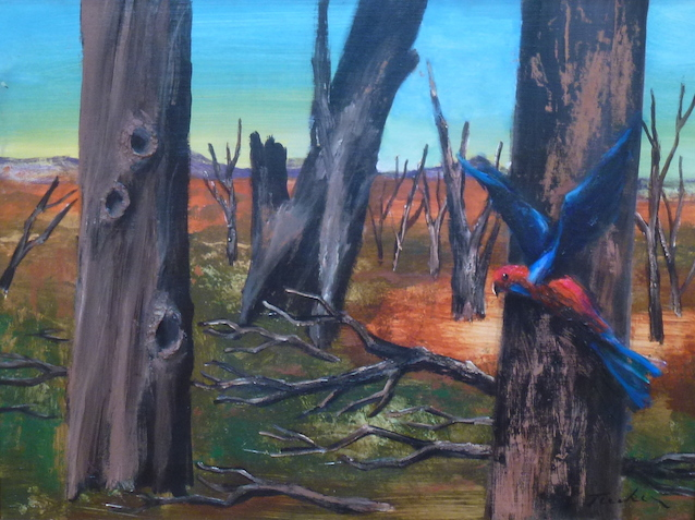 Albert Tucker (Landscape with Parrots)