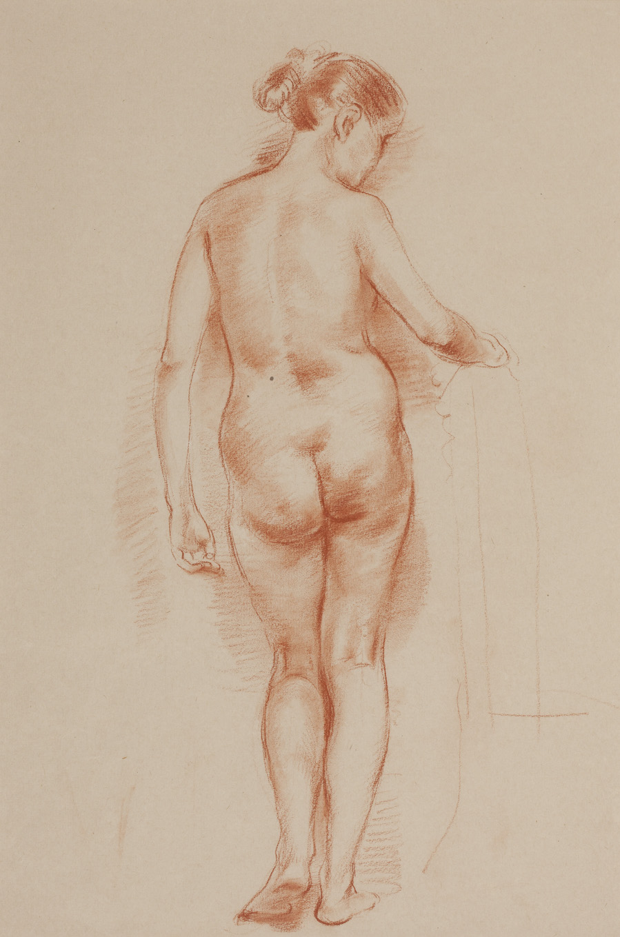 Nora Heysen Female Nude - Back Study