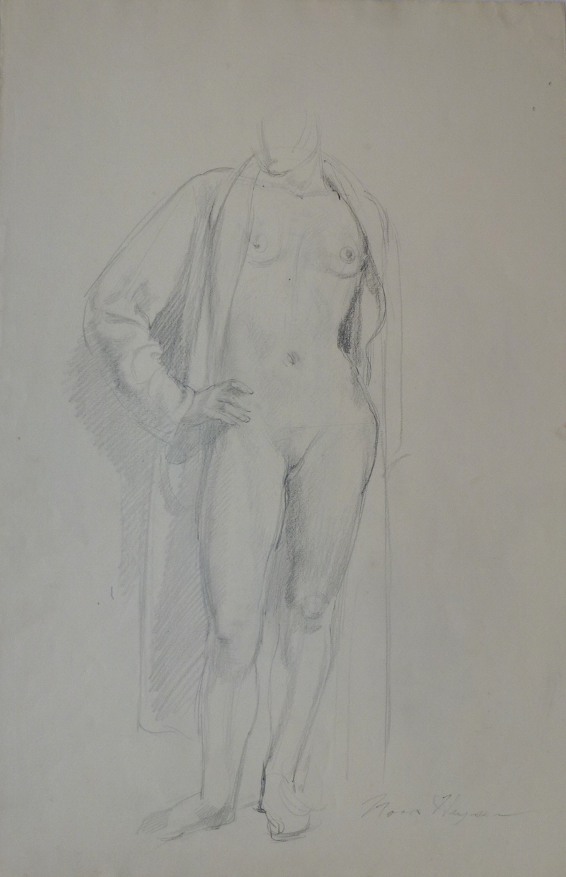 Nora Heysen Robed Female Sketch from the model