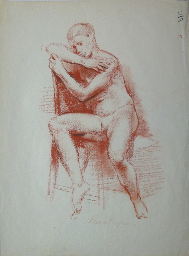 Nora Heysen Seated Male 215219