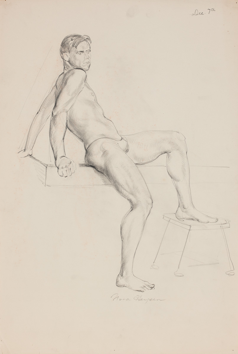 Nora Heysen Seated Male Leg Stool 215220