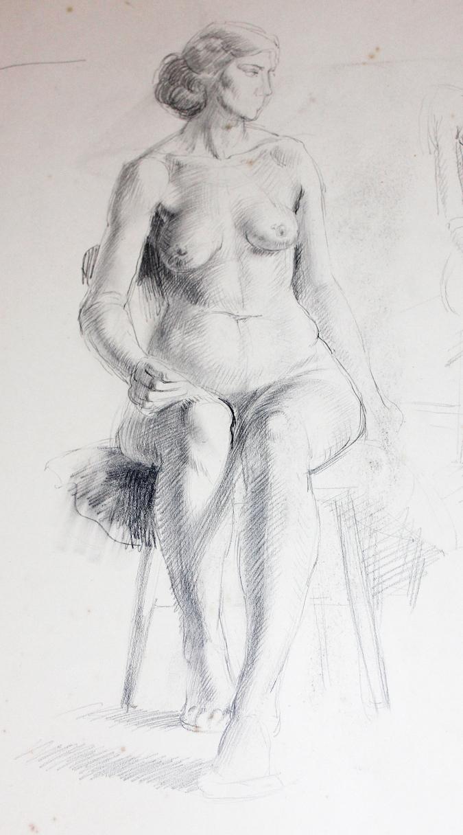 Nora Heysen Seated Female Nude 215266