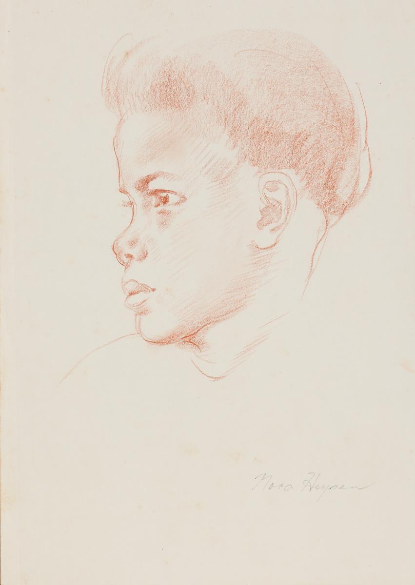 Nora Heysen Native Girl Face Study 215283