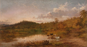 JH Carse_Cattle Drinking, Riddells Creek