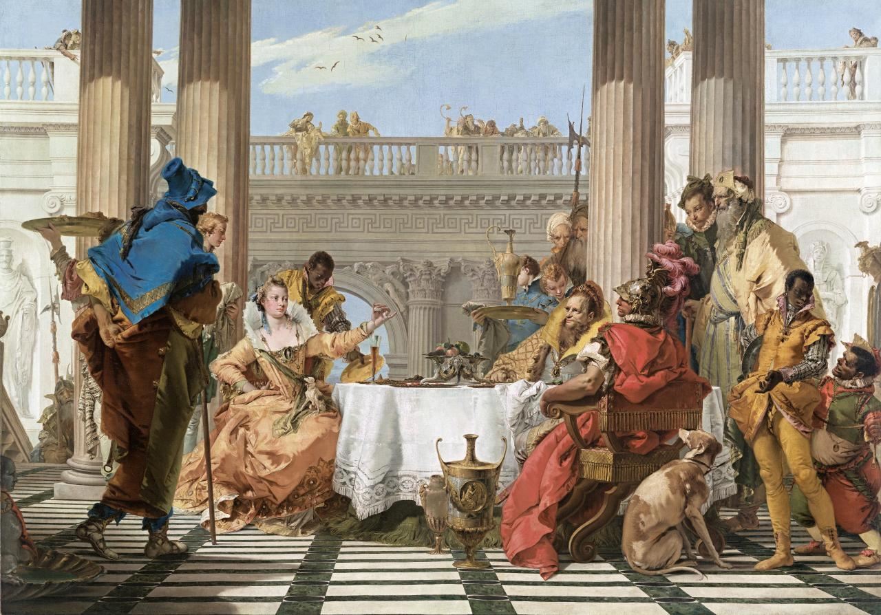 Tiepolo Banquet of Cleopatra NGV collection