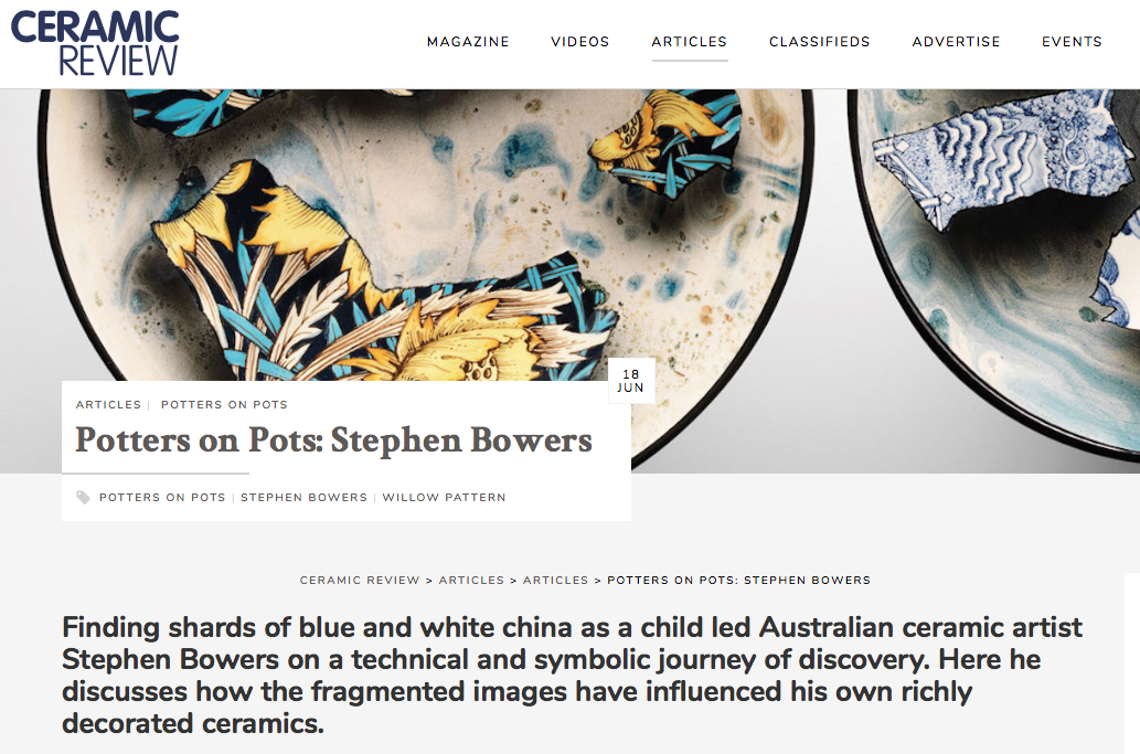 StephenBowers Ceramic Review Issue 298 July/August 2019