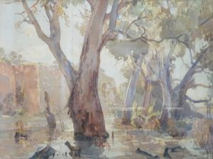 Hans Heysen (Red Cliffs on the Murray)