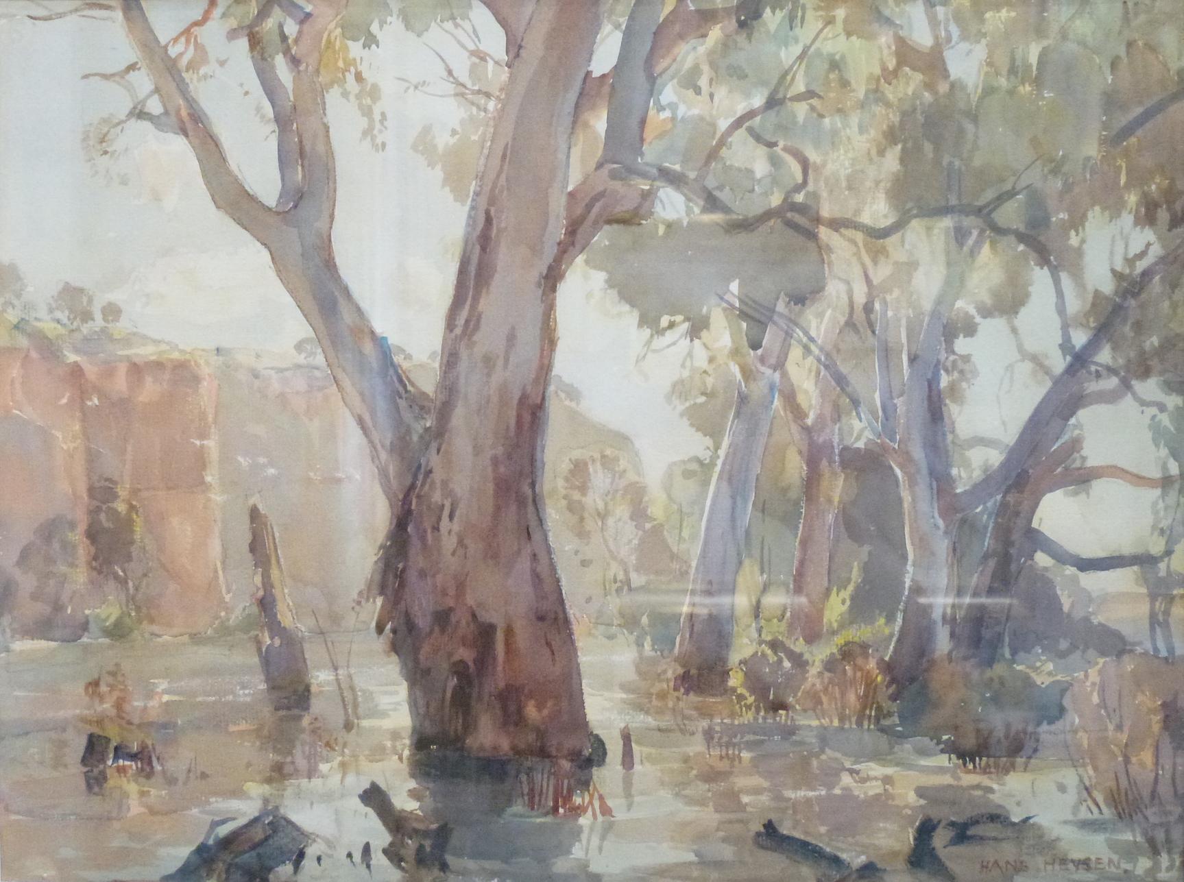 Hans Heysen (Red Cliffs on the Murray)